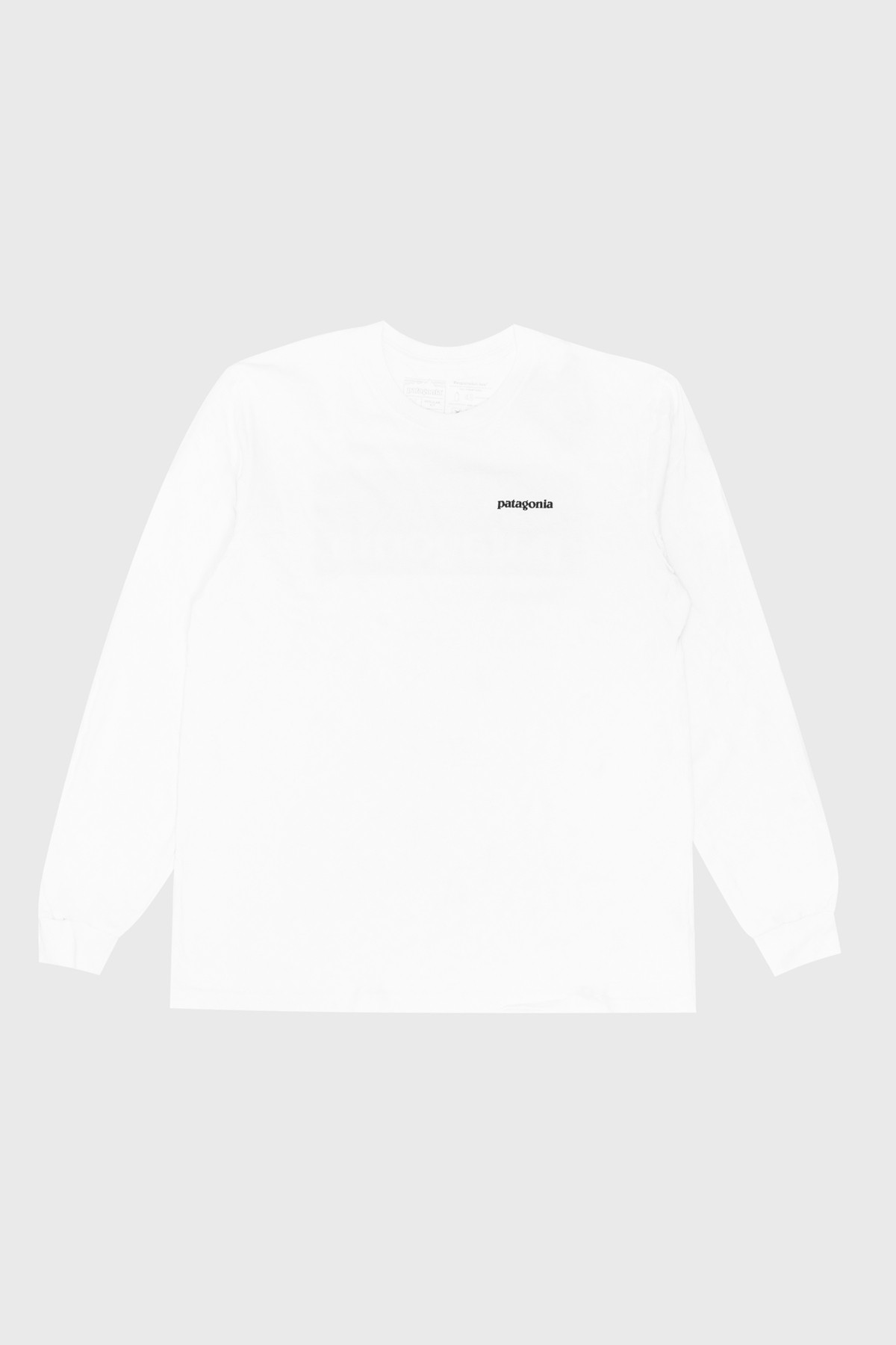 patagonia - Men's Long-Sleeved P-6 Logo Responsibili-Tee® - White