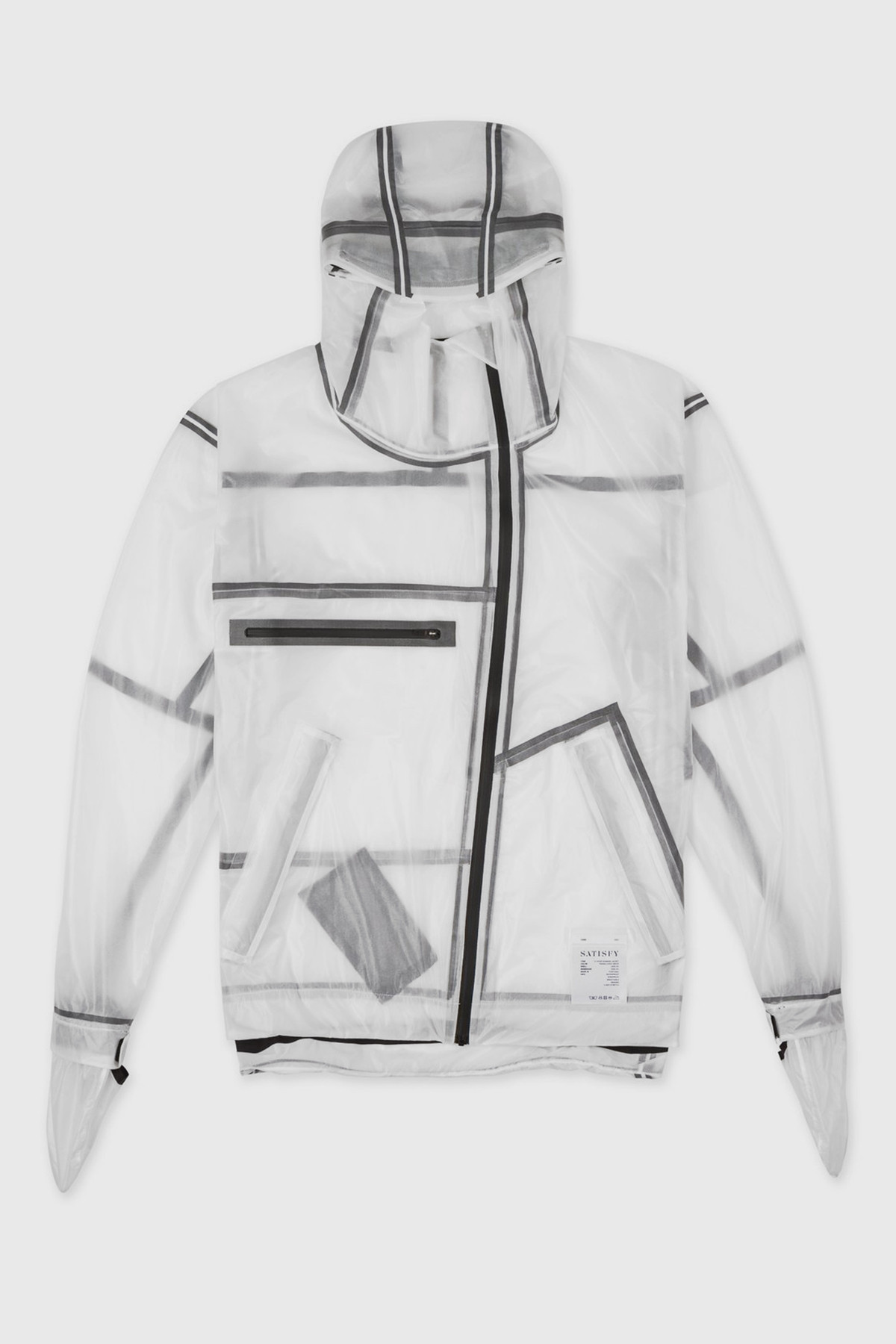 satisfy - 3-Layer running jacket - Translucent white