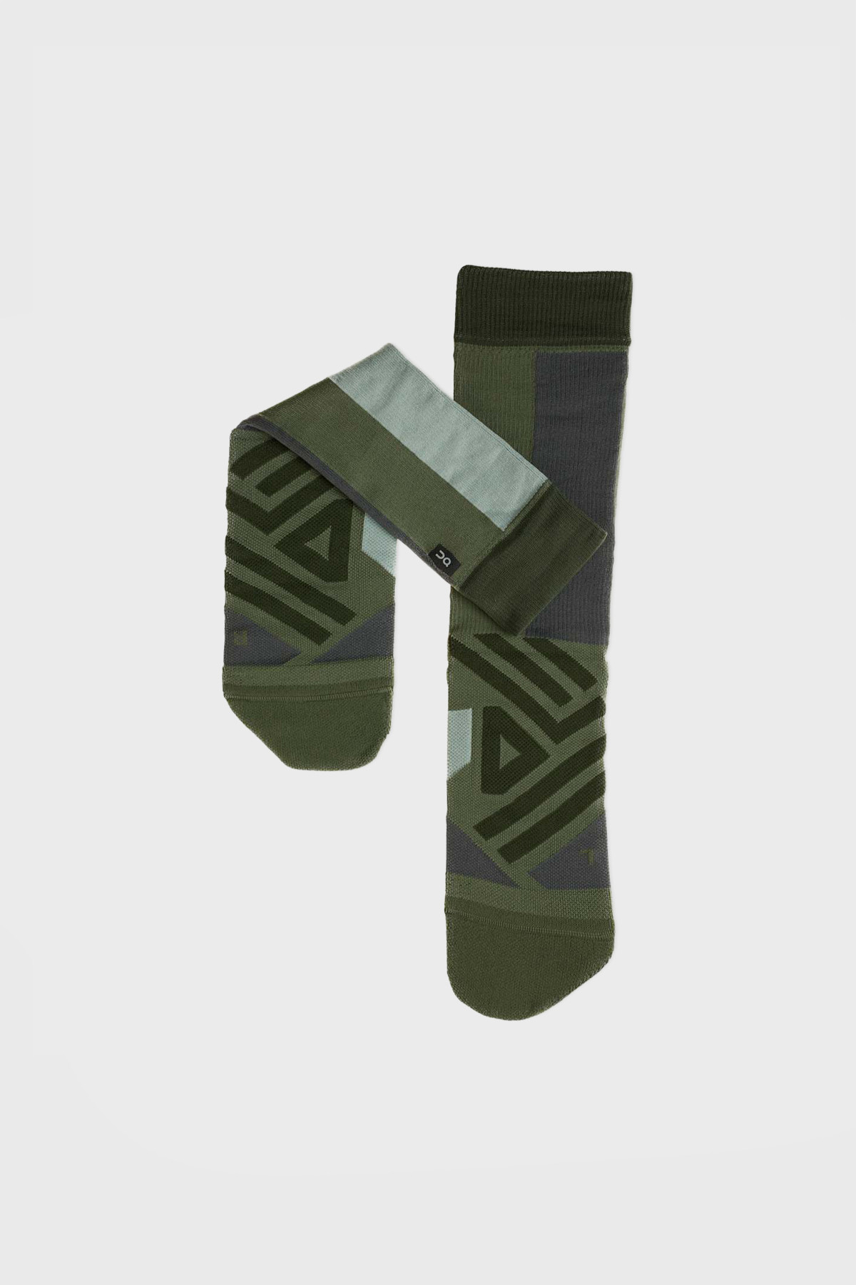 On - High Sock - Forest Moss