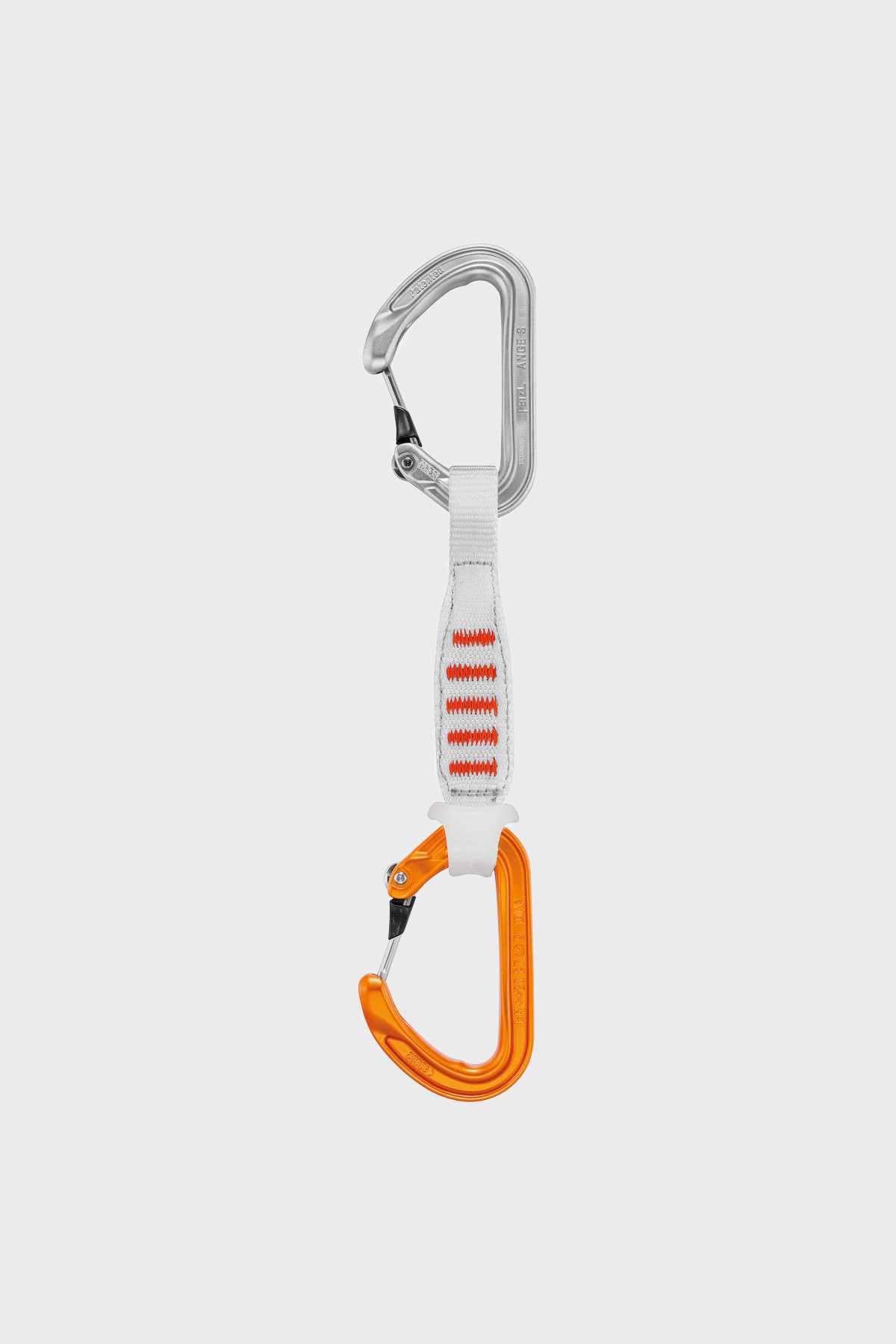 Petzl - Dégaine Ange Finesse 10 CM - Blanc Orange
