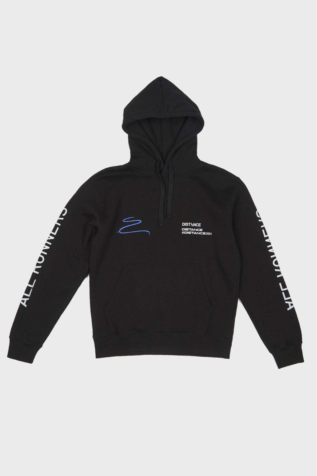 Distance - Classic Squiggle Hoodie - Black