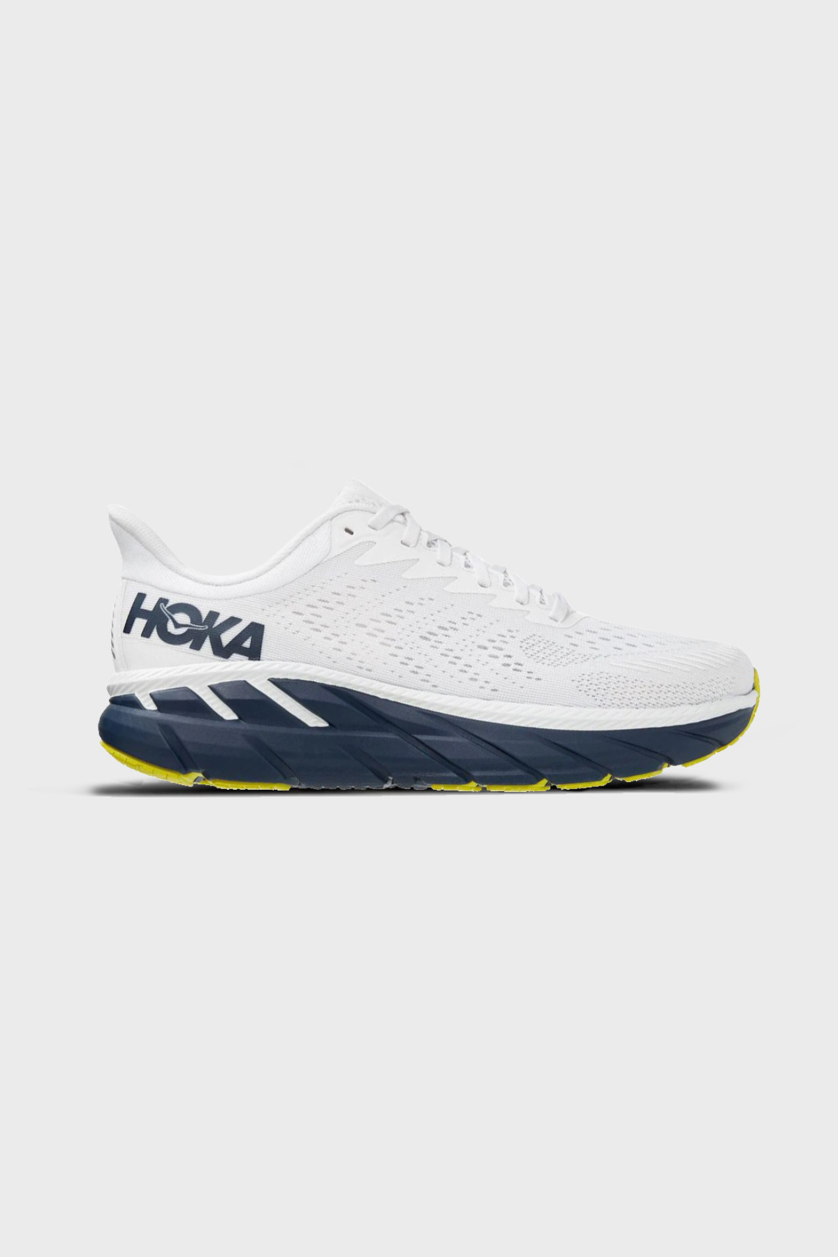 Hoka One One - Clifton 7 - WHITE BLACK IRIS