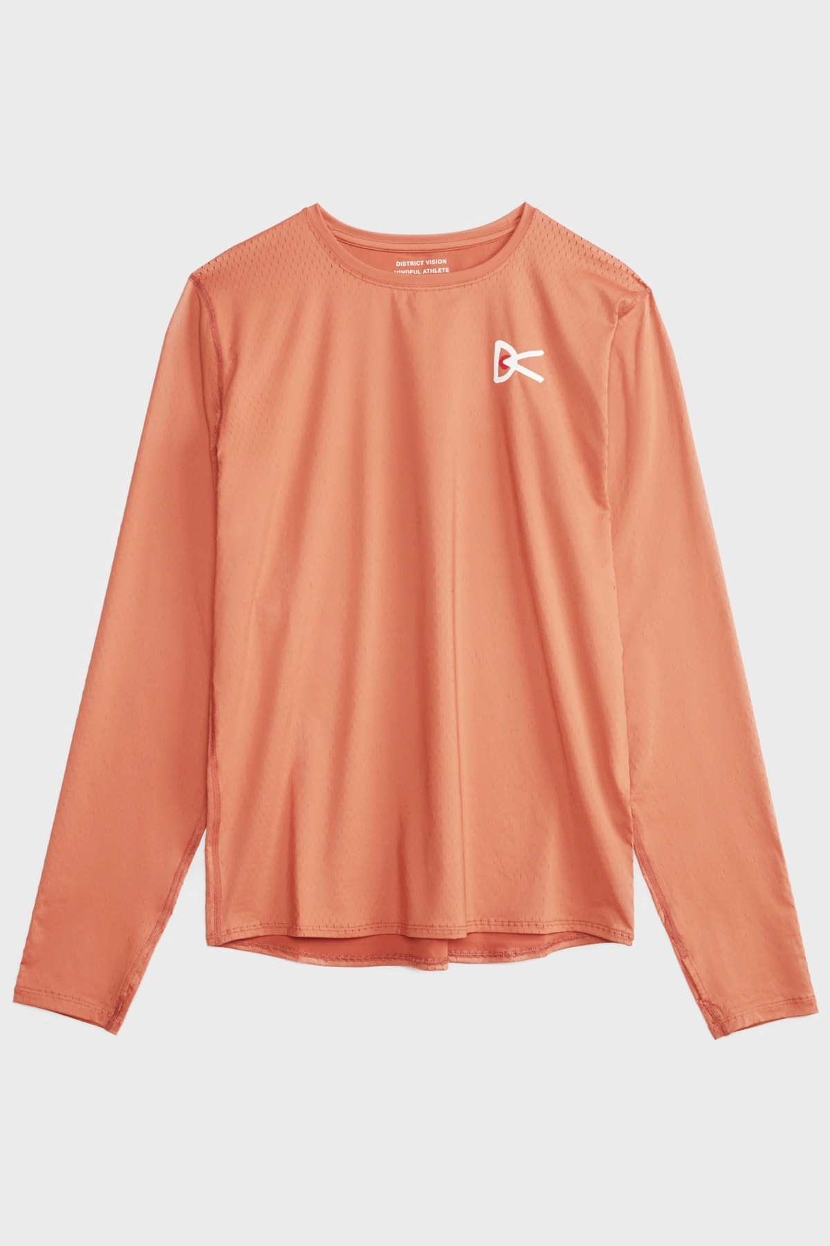District Vision - air wear tech long sleeve - Rust