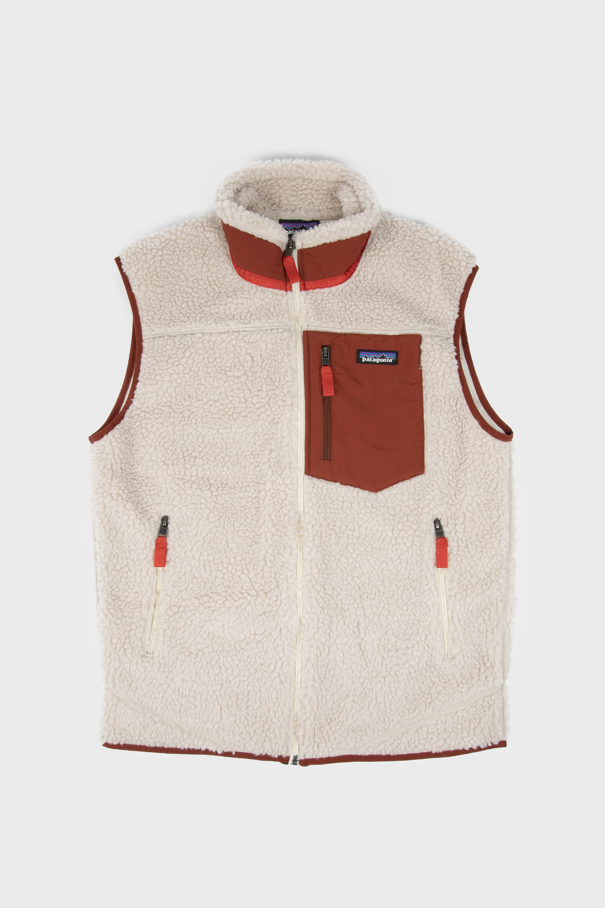 Patagonia - Classic Retro-X Fleece Vest - Natural Barn Red